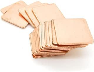 IC Chipset GPU CPU Thermal Heatsink Copper Pad Shim Size 20 x 20 x 1.2mm Pack of 20