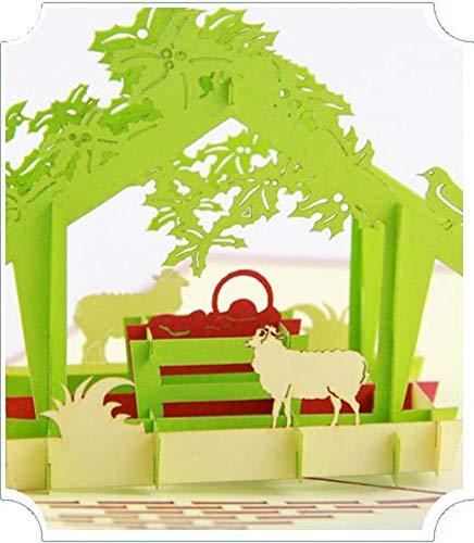 BC Worldwide Ltd handgemachte 3D Pop Up Karte Baby Jesus Geboren Weihnachtskrippe Weihnachtskarte Papercraft Religiöse Christian Catholic Geschenk