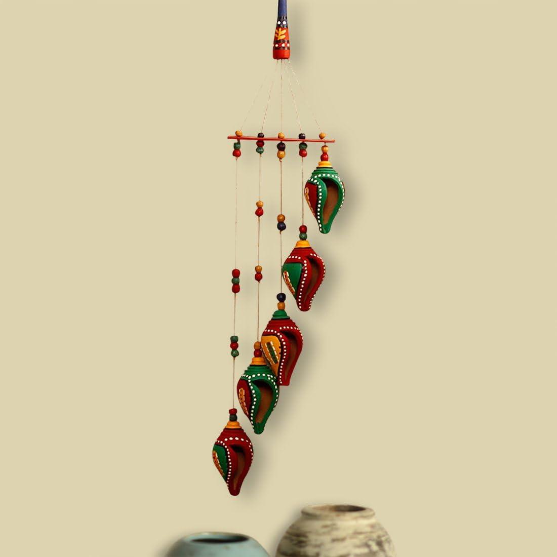 Free shipping ExclusiveLane 'A Shankh Bouquet' Handpainted Decorative Hanging Sacramento Mall