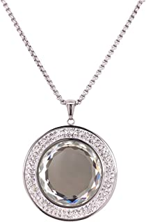 Bevilles Stainless Steel Crystal Necklace Pendant