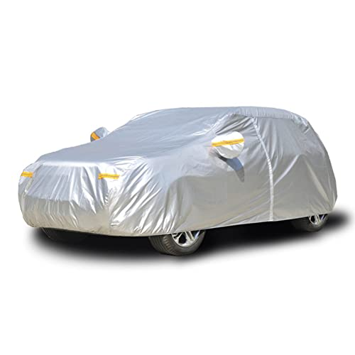 a Prueba de Polvo 2L Lluvia Adecuado para Hatchback Nieve La Cubierta Exterior para Autom/óvil es Impermeable 450x185x150CM Kayme Cubierta Impermeable del Coche