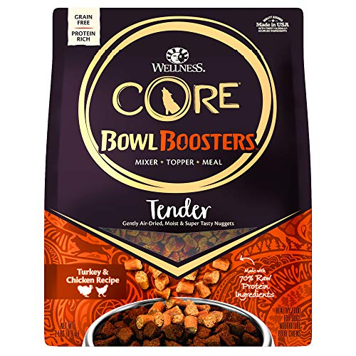Wellness Natural Pet Food 88508 Core Tender Bites Grain Free Natural Dry Dog Food , Mixer Or Topper, Original Turkey & Chicken, 2-Pound Bag