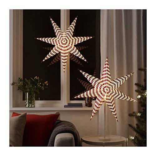 IKEA Strala Lampenschirm Harlekin Muster Rot Weiß 304.089.36 Größe 71,1 cm
