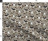 Spoonflower Stoff – Husky Sibirischer Hund Berge Wandern