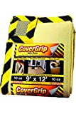 CoverGrip Heavy Duty Safe Zone 10 Oz Canvas Safety Drop Cloth, 9' x 12'