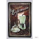 Blechschild Italien Espresso Cafe Küchendeko 20 x 30