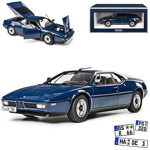 B-M-W M1 E26 Coupe Blau 1978-1981 1/18 Norev Modell Auto