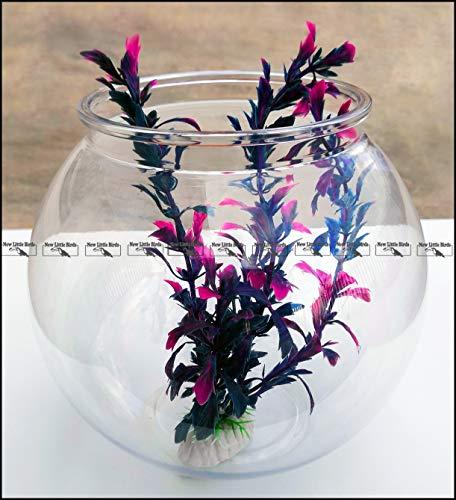 New Little Birds Boccia/Ampolla in plastica Trasparente per Pesci (Ø 21 cm h 19 cm Large capacità 4,0 L)