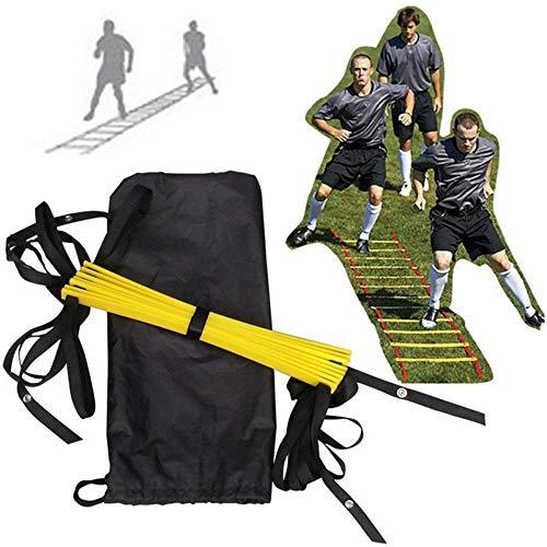 DIAMWAN beweglichkeitsleiter Training Fußball Fitness Fußtrainingsgerät Flache 8 Leiter 4M Agile Leiter