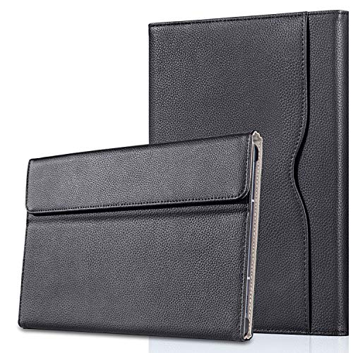 NUOPAISI Case for Samsung Galaxy Tab S6 10.5' 2019 (Model SM-T860/T865/T867), [Supports S Pen Wireless Charging] Multiple Angle Portfolio Business Cover with Pocket Auto Sleep/Wake (Black)