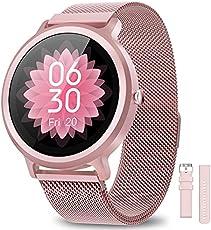 NAIXUES Smartwatch Mujer Reloj Inteligente IP68 con 24 Modos de Deporte, Pulsómetro, Monitor de Sueño, Notificaciones...