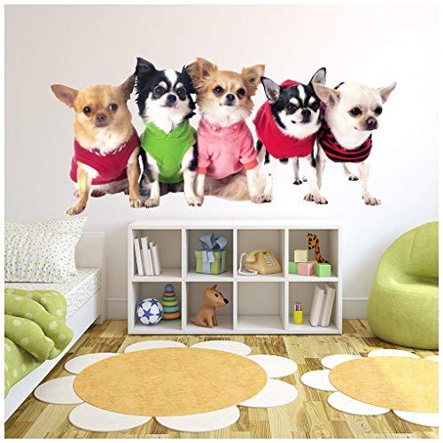 azutura Chihuahua-Hund Wandtattoo Chiwawa Welpen Tier Wand Sticker Kinderzimmer Dekor Erhältlich in 8 Größen X-Groß Digital