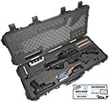 Case Club AR15 Pre-Cut Waterproof Rifle Case with Included Silica Gel to Help Prevent Gun Rust & Small Waterproof Accessory Box (Gen 2)