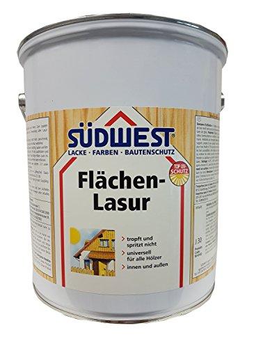SÜDWEST Flächen-Lasur für innen und außen Wetterfest Farbton wählbar 5 Liter, Südwest :9551 Ebenholz