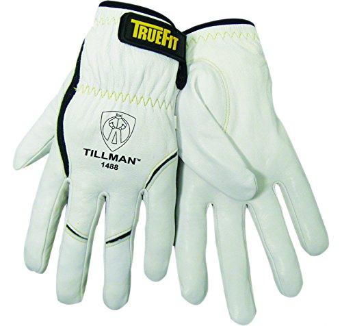John Tillman 1488 L True Fit Large Top Grain Kevlar/Goatskin Super Premium Grade TIG Welders' Glove with Elastic Cuff, V Design Thumb/Hook/Loop Closure, English, 15.34 Fl. Oz, Plastic, 1 x 7.5 x 5