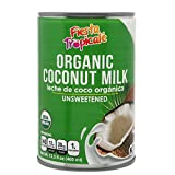 Organic Coconut Milk Unsweetened Full-Fat Pure BPA-Free Canned Dairy Free Milk Alternative, for...