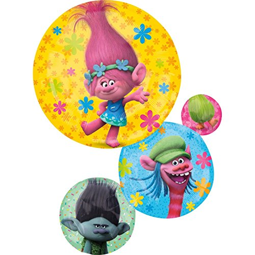 Anagram- Pallone Foil Supershape 55 x 71 cm Trolls, Multicolore, 7A3395201