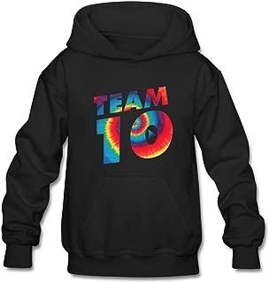 Aliensee Youth Tie Dye Jake Paul Team 10 Hoodie Sweatshirt Suitable For 10-15yr Old