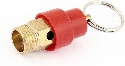 """Compressore d'aria rosso 1/4""""valvola limitatrice di pressione pt filo di sicurezza"""