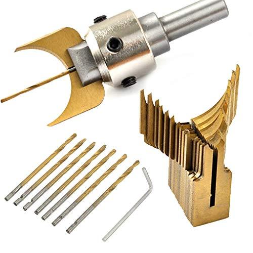 smallJUN Hartmetallkugel Bits Klinge Holzbearbeitung Fräser Formwerkzeug Buddha Perlen Fräser Bohrer Set