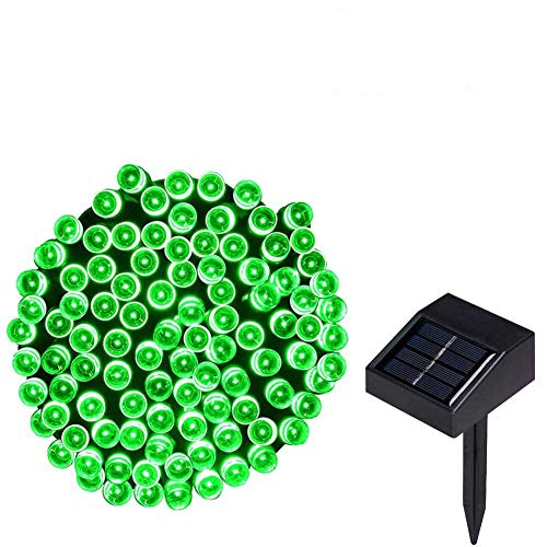 Lychee 17m 55ft 100LED Solar Waterproof Fairy String Light with 2 Modes for Outdoor Indoor Wedding Garden Home Party Christmas Decoration (Green)