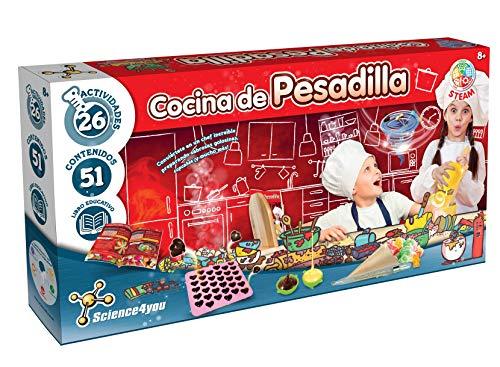 Cocina de Pesadilla - Kit Cocina para Niños, Haz tus Proprios Caramelos de Colores y Cupcakes, Aprende la Ciencia de la Cocina, Juego de Manualidades con Libro Educativo para Niños +8 Años