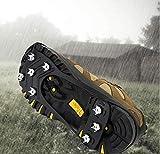 ILCD Crampones, Clavos de Acero Inoxidable Pico Tacos Zapatos para Caminar de silicio Invierno, subiendo la Pata,L