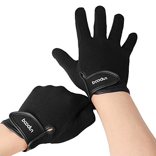 Lixada Herren & Damen Reithandschuhe Reithandschuhe Touchscreen-Handschuhe für Radfahren, Reiten und Outdoor-Aktivitäten (Schwarz, M)