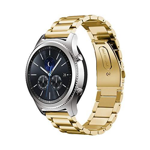 22 mm de ancho 7.1 '180 mm de longitud de acero inoxidable reloj pulsera correa para Gear S3 Frontier Classic