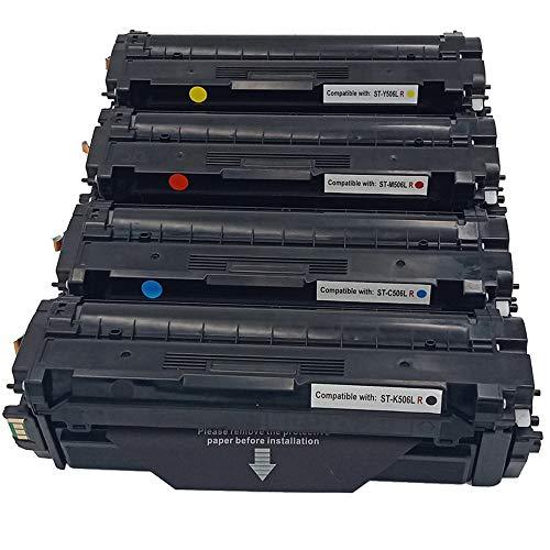 Office Ink Toner Ersatz für Samsung CLT-K506L CLT-C506L CLT-M506L CLT-Y506L Tonerkartusche Kompatibel für CLP-680ND CLX-6260FR 6260FD CLX-6260ND 6260FW (1 Schwarz, 1Cyan, 1Magenta, 1Yellow) 4 Stück