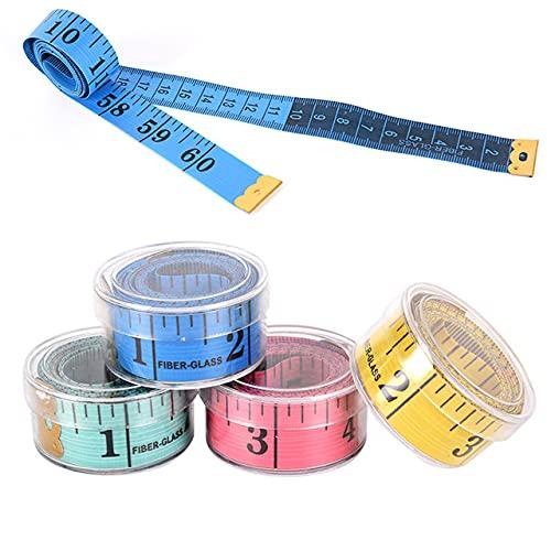 Regla de medición del cuerpo de 150 cm/60 pulgadas, cinta métrica de costura suave y plana, cinta métrica de costura, color al azar, 1,5 m