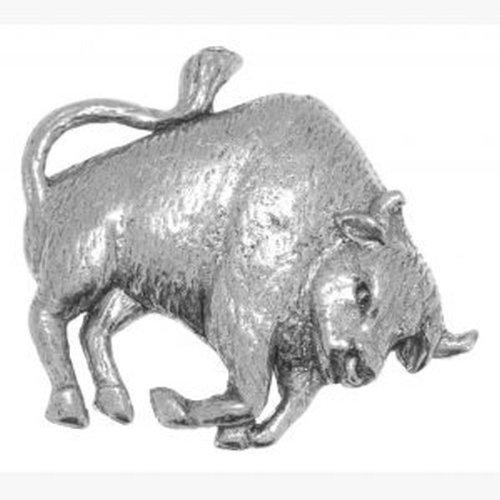 Sternzeichen-Anstecknadel aus Zinn mit Stier und Stier, in gravierter Geschenkbox, schöne Geschenkidee