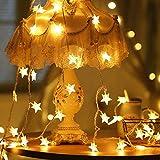 Lichterkette Sterne, Se-Mirrorworld LED Lichterketten USB 3m 20 LEDs Warmweiße Sternen, Blinken, für Kinderzimmer, Balkon, Geburtstag, Wand, Weihnachten, Dekoration [Energieklasse A+++] - 2