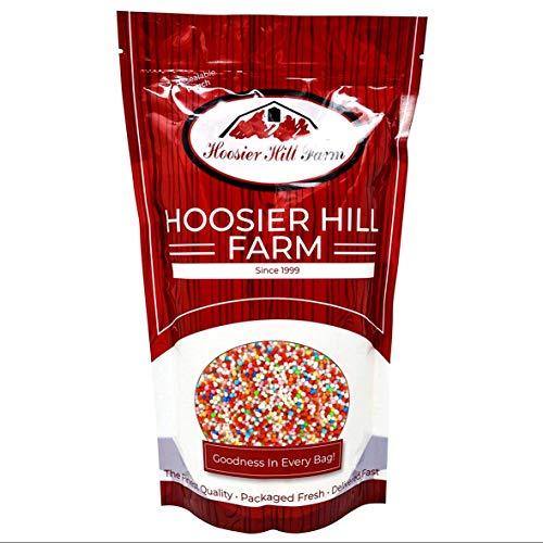 Hoosier Hill Farm Nonpareils arcoíris de colores naturales (1 kg) Cientos y...