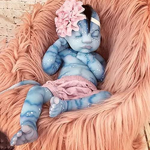 BKONF Reborn Muñecas Bebé Suave de Silicona 55 cm Bebe Reborn Niño Lifelike Realista Regalo de Juguete Muñecos Bebé Las Extremidades Pueden Moverse