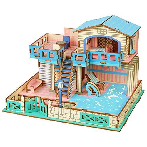 ADDG DIY MUÑA DE MUÑA DE MUÑA Juego 3D Kit DE CONSTRUCCIÓN DE MAYORÍA DE Control DE Muchacha Hecho Hecho MUELLO Mana MUEBLIO Accesorios DE MUEBLIOS MINIATUROS, PUESO Modelo 3D Tridimensional
