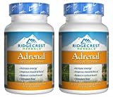 RidgeCrest Herbals Adrenal Fatigue Fighter, Adaptogen Stress Support, 60 Vegetarian Capsules (2 Pack)
