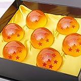 Hpory Juego de 7 bolas de dragón, bolas de dragón de resina de 7 estrellas, bolas transparentes para uso como bolas de juguete (43 mm)