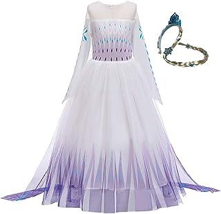 Disfraz de princesa blanca para niñas, falda de malla de manga larga, disfraz para niños