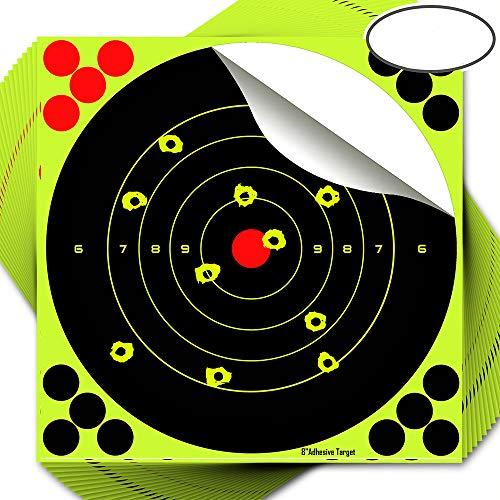 fritz-cell 25 Splitterziele Splittersticker Typ 8098 selbstklebend Zielscheibe für alle Gewehre, Pistolen, Luftgewehre, Airsoft, BB, Diabolo kompatibel mit Splatterburst Zielen