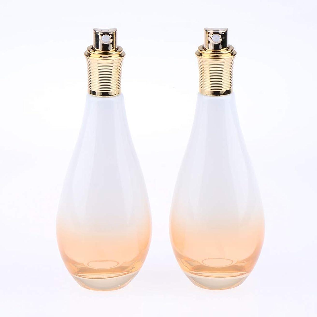 ジョージバーナード動力学立ち向かうF Fityle 2個 ガラス スプレーボトル 香水ボトル アトマイザー 小分け容器 3サイズ選べ - 100ミリリットル
