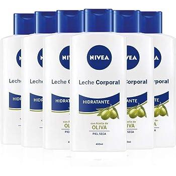 NIVEA Leche Corporal Aceite de Oliva en pack de 6 (6 x 400 ml ...