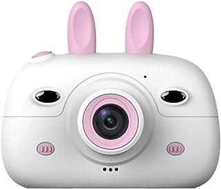 Cámara para niños PZNSPY Fotografía digital Cámara SLR pequeña Cámara fotográfica de dibujos animados divertida 2.4 pulgadas con lente doble para niños Rosa China