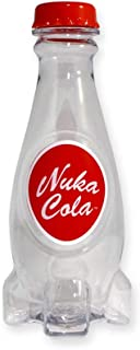 Official Fallout Nuka Cola Clear Plastic Screw Top Reusable Moulded Kids Water Bottle, 24 oz, BPA Free