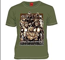 MARS16 キン肉マン 運命の五王子 Tシャツ オリーブドラブ (M)