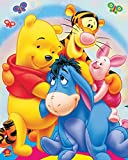Diamond Painting Cartoon by Number Kits, 5D DIY Diamond Embroidery Crystal Rhinestone Cross Stitch Mosaic Paintings Arts Craft for Home Wall Decor Winnie the Pooh 12X16 inch (R)