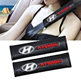 Fundas para cinturón de seguridad NADAENTA, 2 unidades, fibra de carbono bordado, efecto de hombro, para HYUNDAI Tucson CRETA Santa fe, logotipo de la marca Withcar
