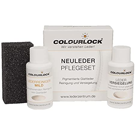 Colourlock Smooth Leather Care Set With Leather Sealing Mini With Mild Leather Cleaner Cleans And Seals Leather Car Car Furniture Leather Jacket Auto