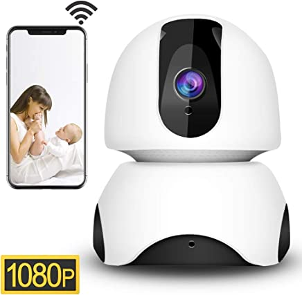 1080P Wireless Security IP Camera WiFi 2.4G Surveillance Camera for Pet Baby Elder Home Monitor,3D Navigation Panorama View,Pan/Tilt,Two-Way Audio,Night Vision,Motion Detection,Cloud Storage(EC30)