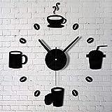 GVC Acrílico de Moda DIY Autoadhesivo Pared Interior Decoración Creativa Reloj y Venta al por Mayor 1.19